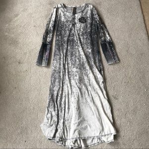 Anthropologie Aratta silent journey maxi dress